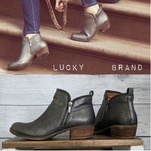 Lucky Brand Bartalino Booties in Pewter Rock 8